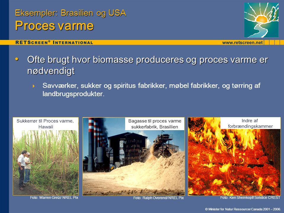 Eksempler: Brasilien og USA Proces varme