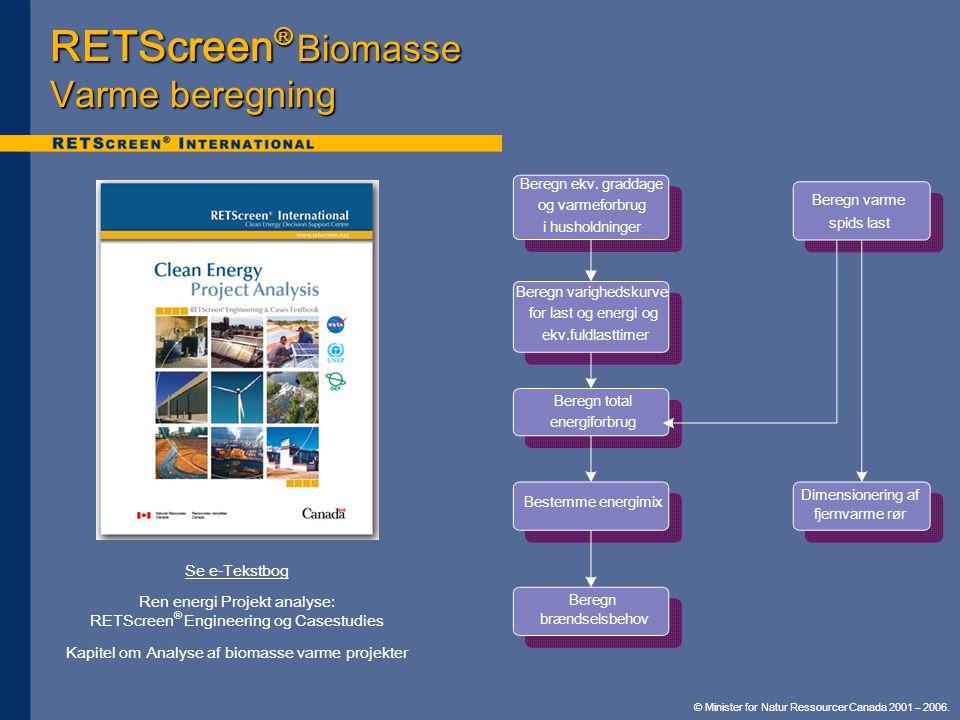 RETScreen® Biomasse Varme beregning