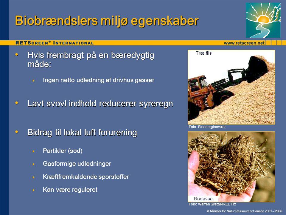 Biobrændslers miljø egenskaber