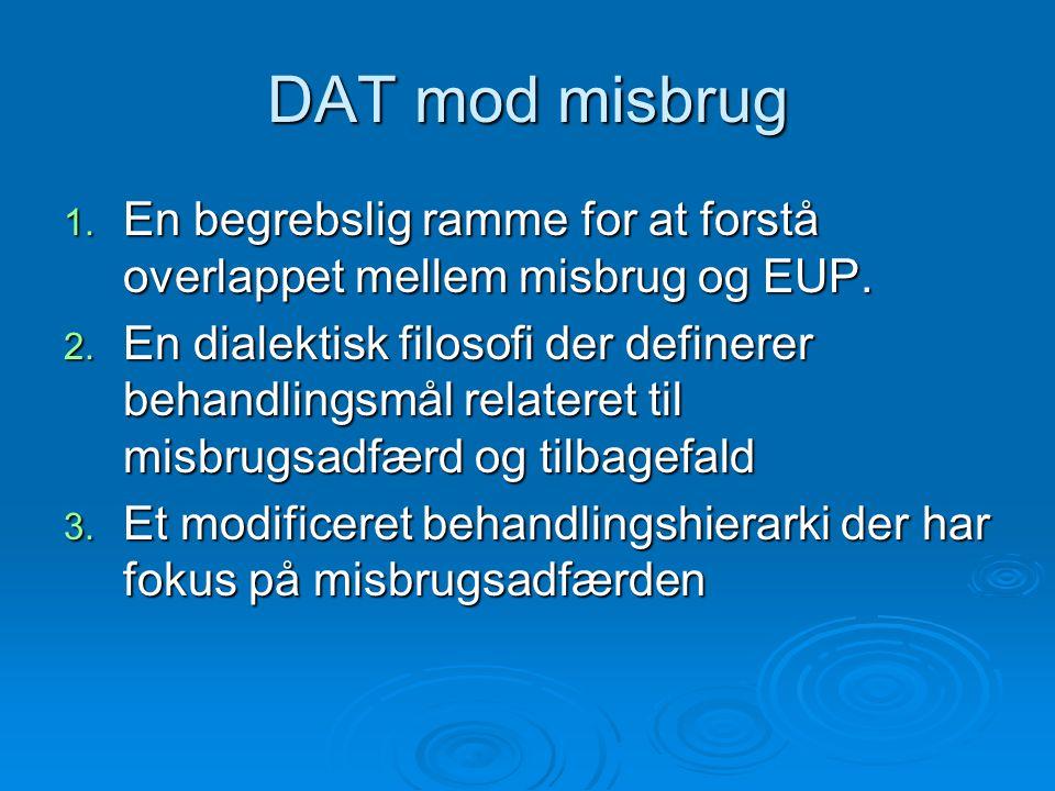 DAT mod misbrug En begrebslig ramme for at forstå overlappet mellem misbrug og EUP.