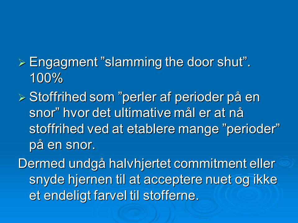 Engagment slamming the door shut . 100%