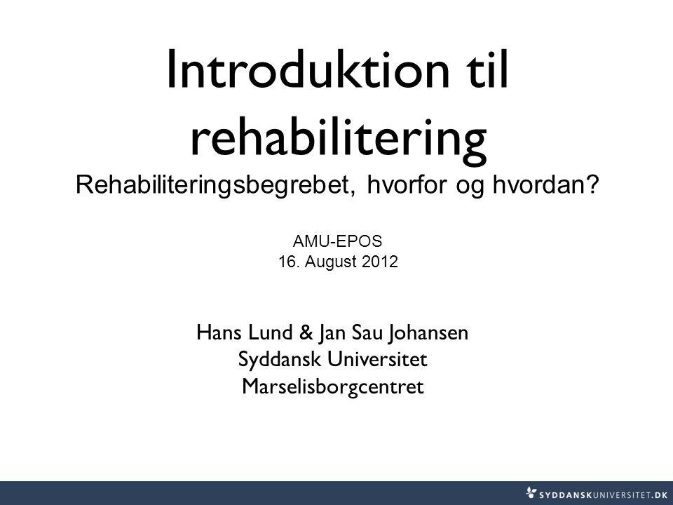 Introduktion til rehabilitering