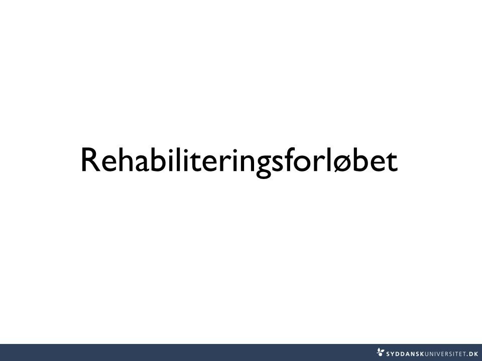 Rehabiliteringsforløbet
