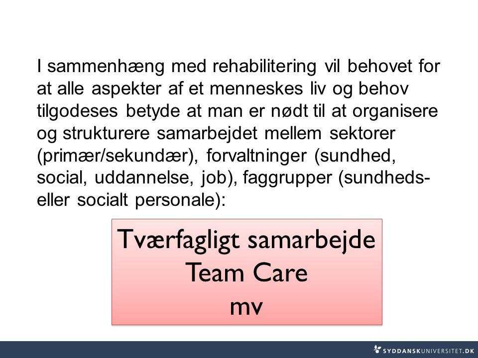 Tværfagligt samarbejde