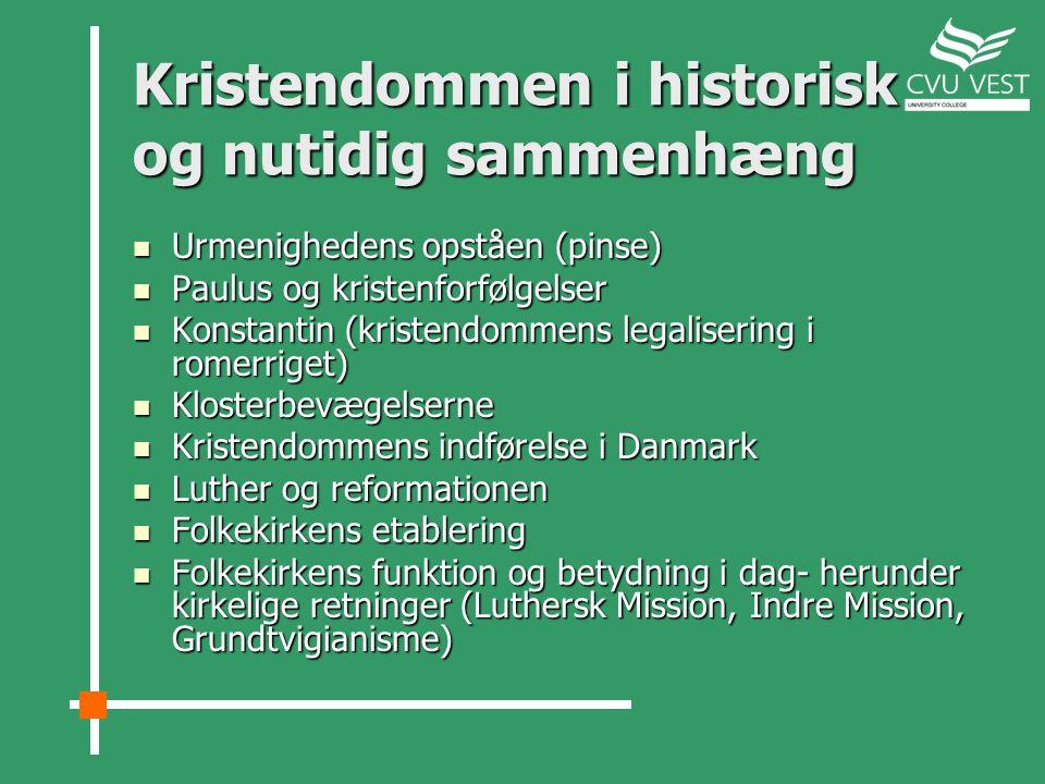 Kristendommen i historisk og nutidig sammenhæng