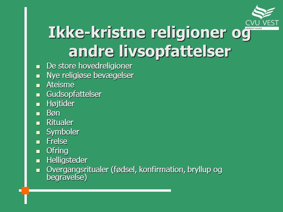 Ikke-kristne religioner og andre livsopfattelser