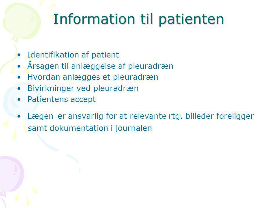 Information til patienten