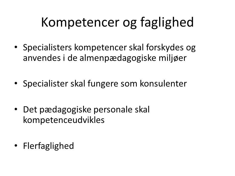 Kompetencer og faglighed