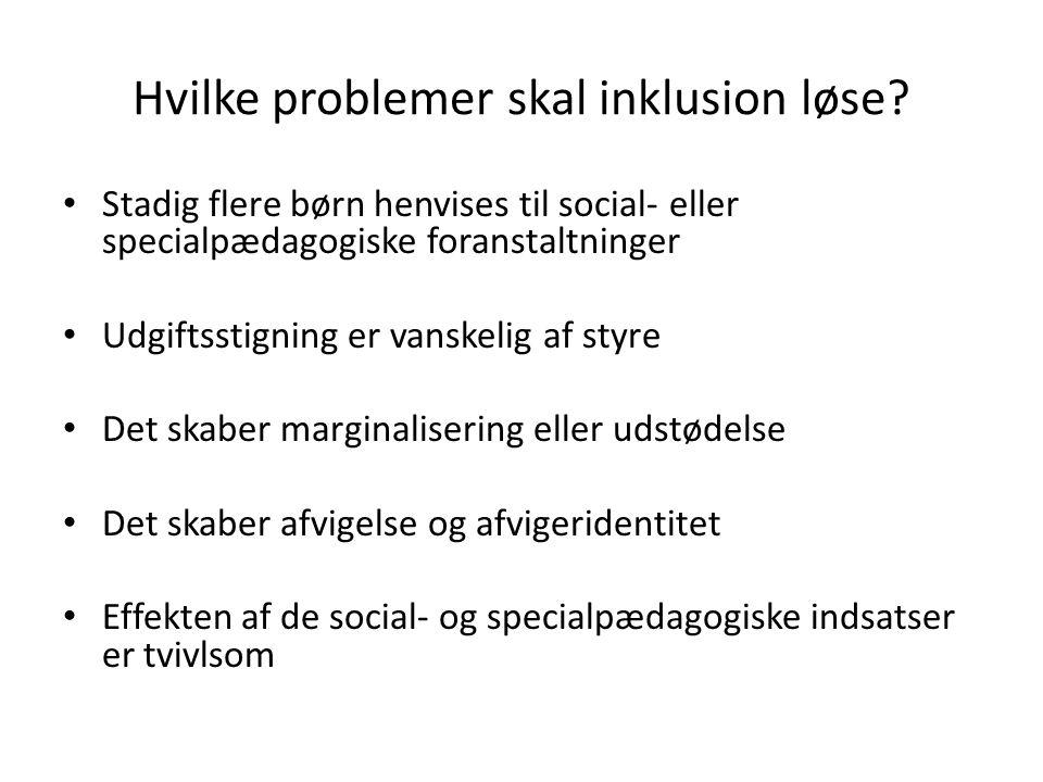 Hvilke problemer skal inklusion løse