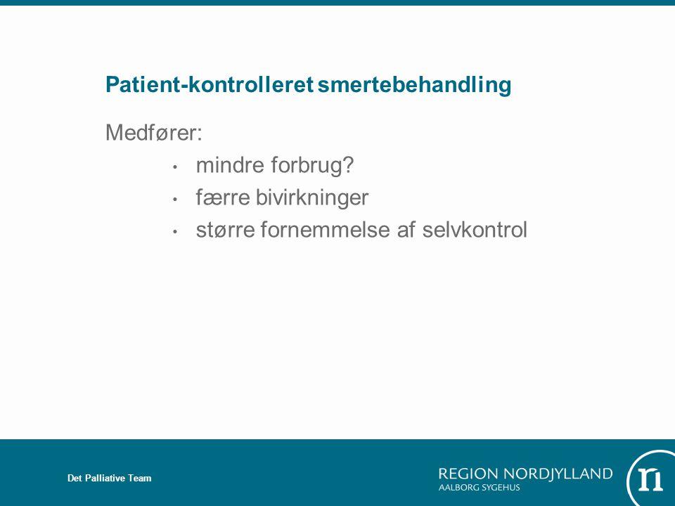 Patient-kontrolleret smertebehandling
