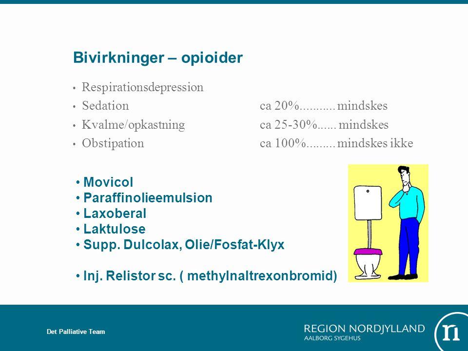 Bivirkninger – opioider
