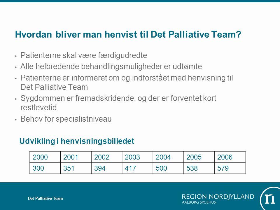 Hvordan bliver man henvist til Det Palliative Team