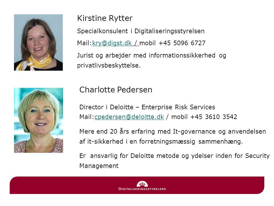 Kirstine Rytter Charlotte Pedersen