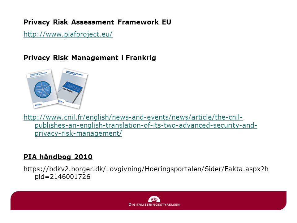 Privacy Risk Assessment Framework EU