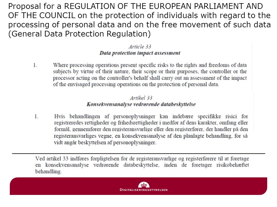 Proposal for a REGULATION OF THE EUROPEAN PARLIAMENT AND OF THE COUNCIL on the protection of individuals with regard to the processing of personal data and on the free movement of such data (General Data Protection Regulation)