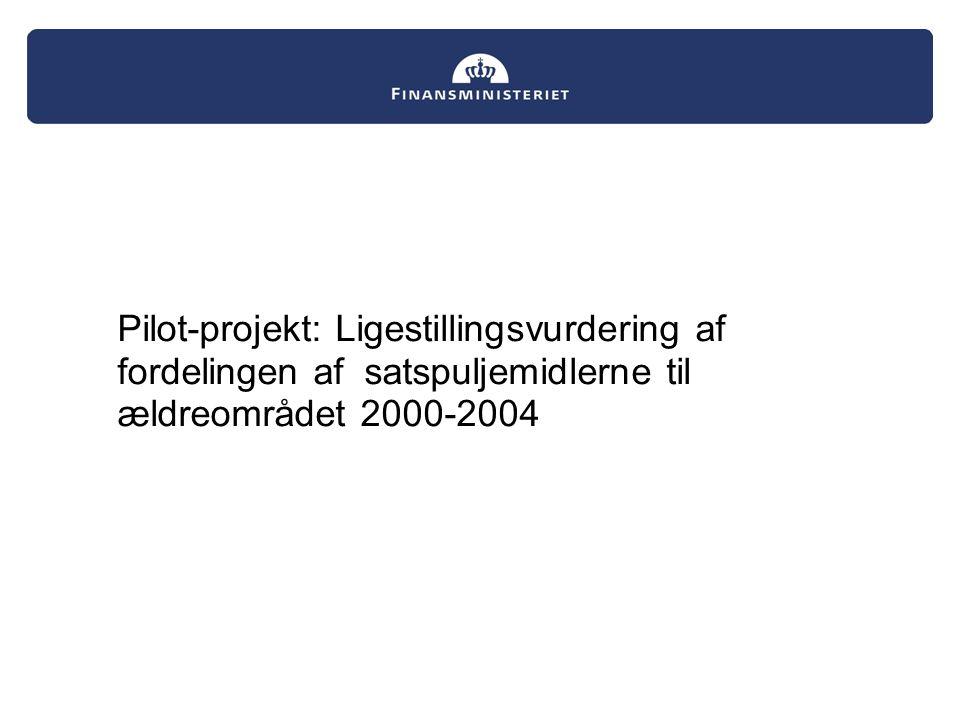 Pilot-projekt: Ligestillingsvurdering af fordelingen af satspuljemidlerne til ældreområdet 2000-2004
