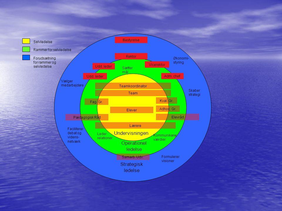 Undervisningen Operationel ledelse Strategisk ledelse Selvledelse