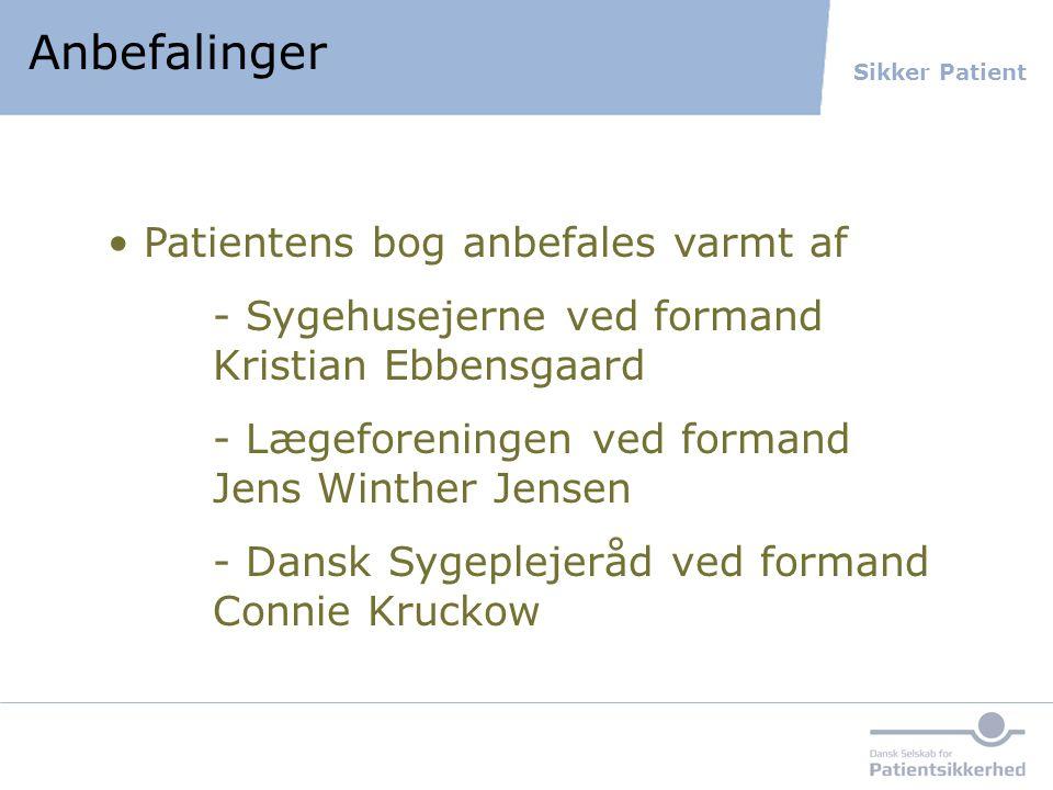 Anbefalinger Patientens bog anbefales varmt af