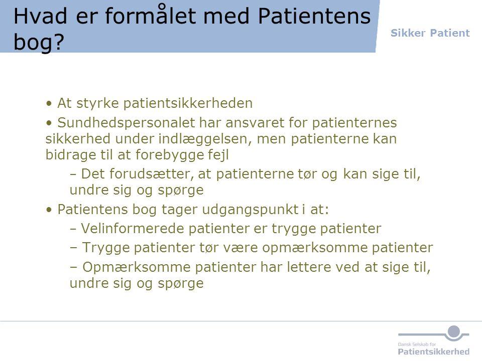 Hvad er formålet med Patientens bog