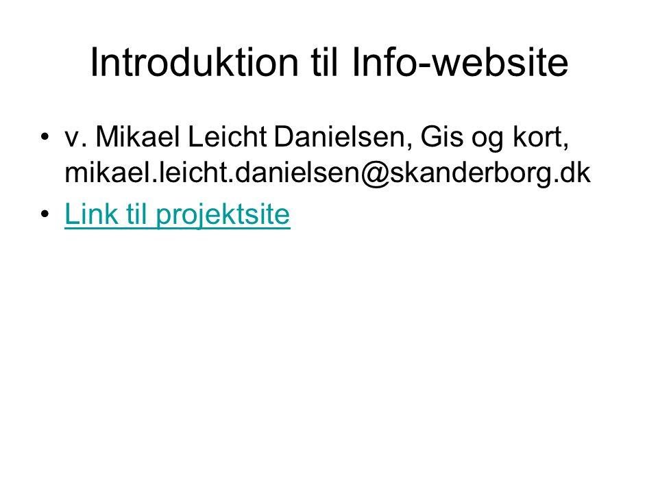 Introduktion til Info-website