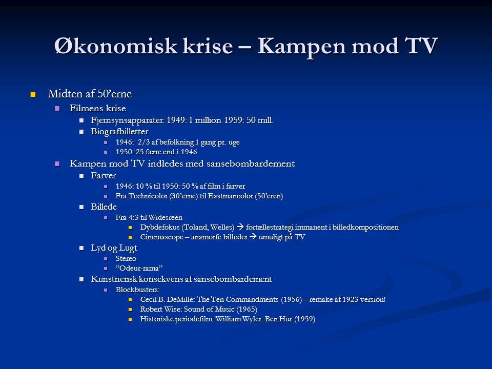 Økonomisk krise – Kampen mod TV