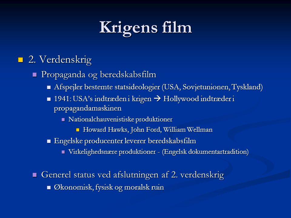 Krigens film 2. Verdenskrig Propaganda og beredskabsfilm