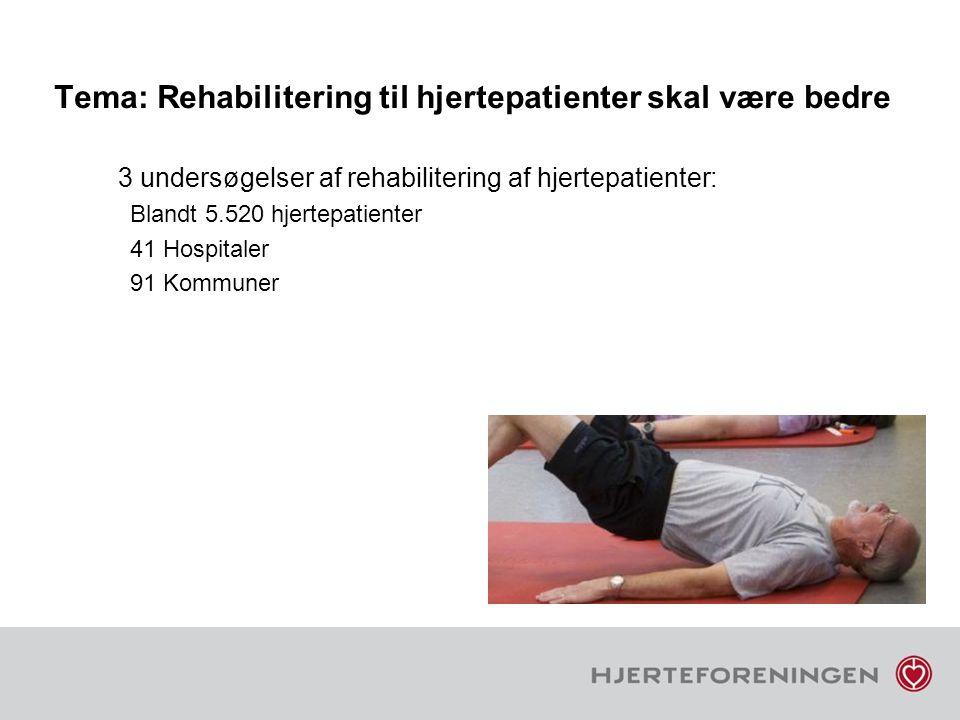 Tema: Rehabilitering til hjertepatienter skal være bedre