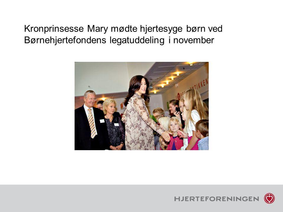 Kronprinsesse Mary mødte hjertesyge børn ved Børnehjertefondens legatuddeling i november