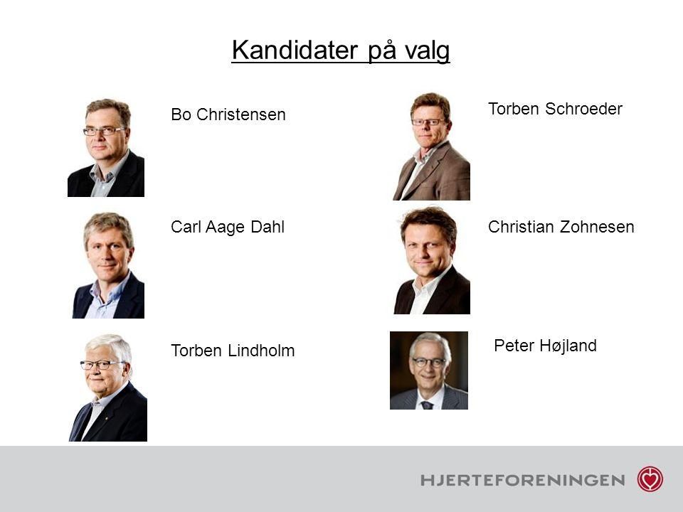 Kandidater på valg Torben Schroeder Bo Christensen Carl Aage Dahl