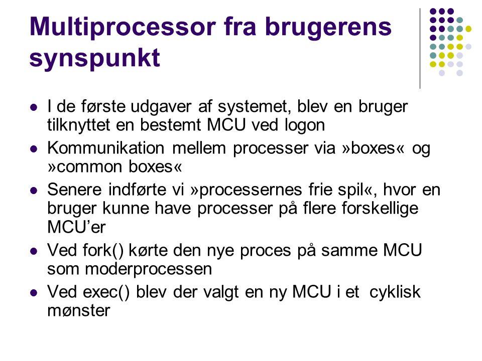 Multiprocessor fra brugerens synspunkt