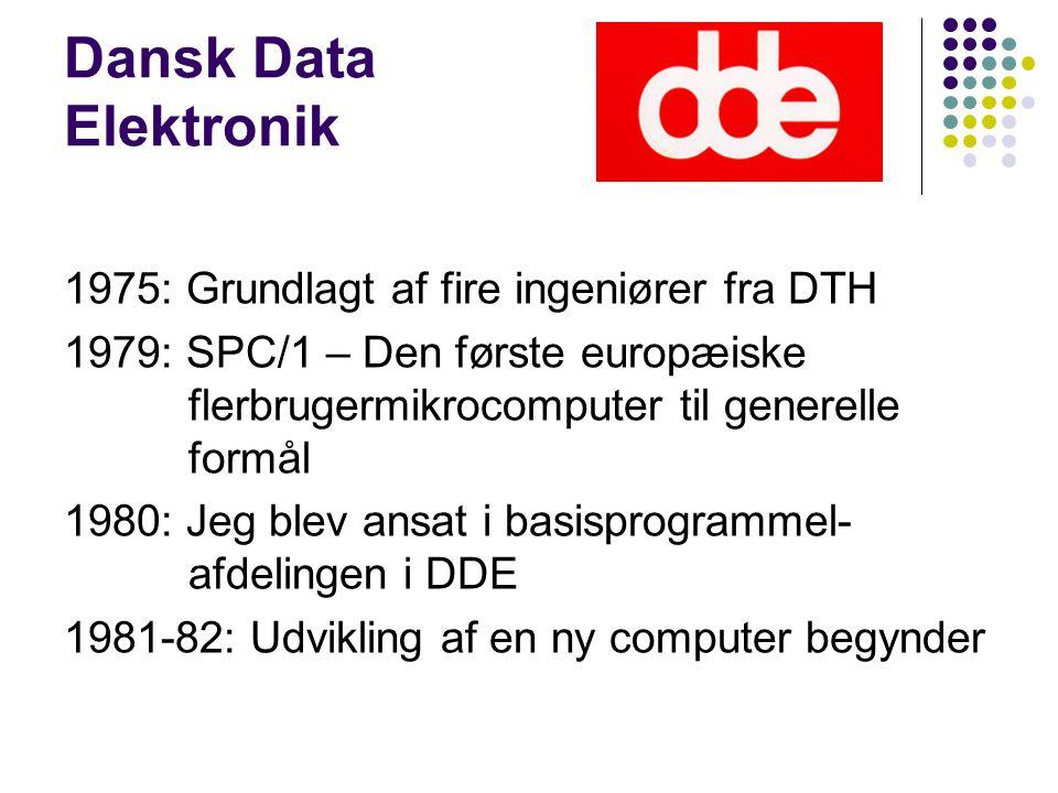 Dansk Data Elektronik 1975: Grundlagt af fire ingeniører fra DTH