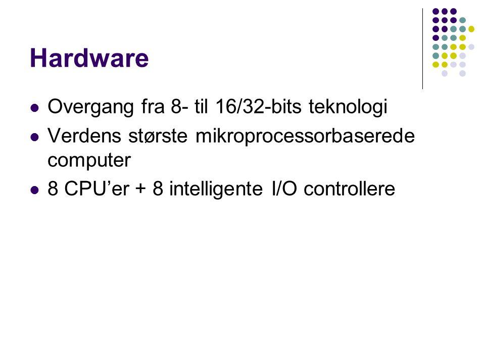 Hardware Overgang fra 8- til 16/32-bits teknologi