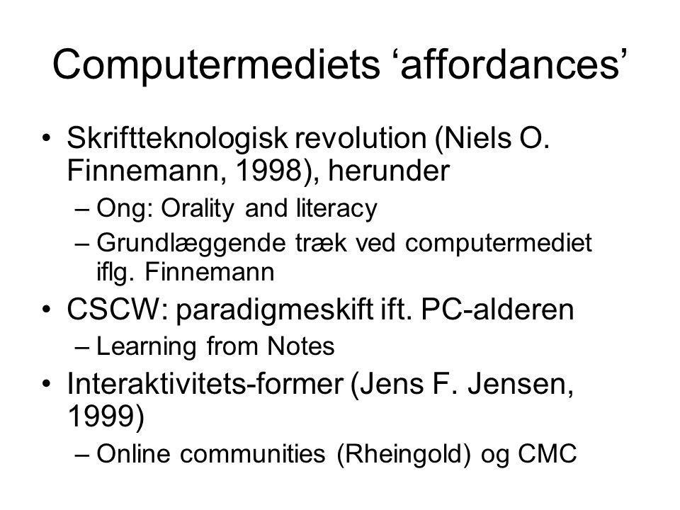 Computermediets 'affordances'
