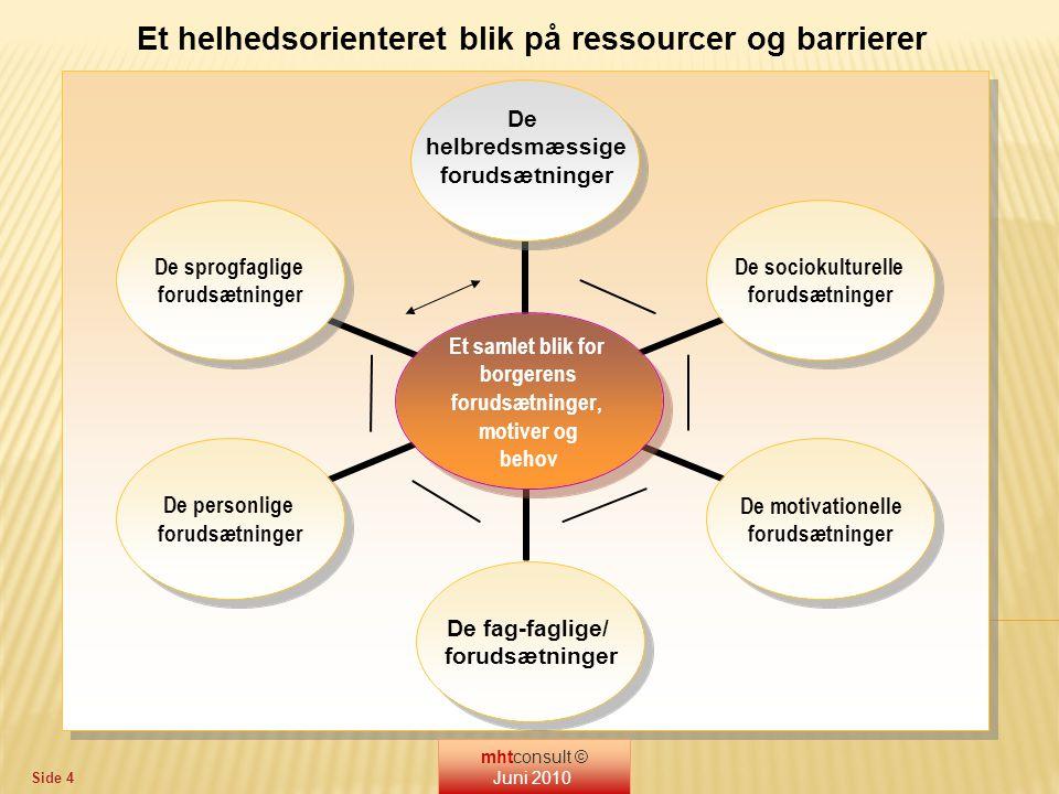 Et helhedsorienteret blik på ressourcer og barrierer