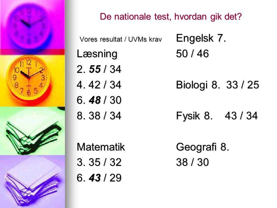 De nationale test, hvordan gik det