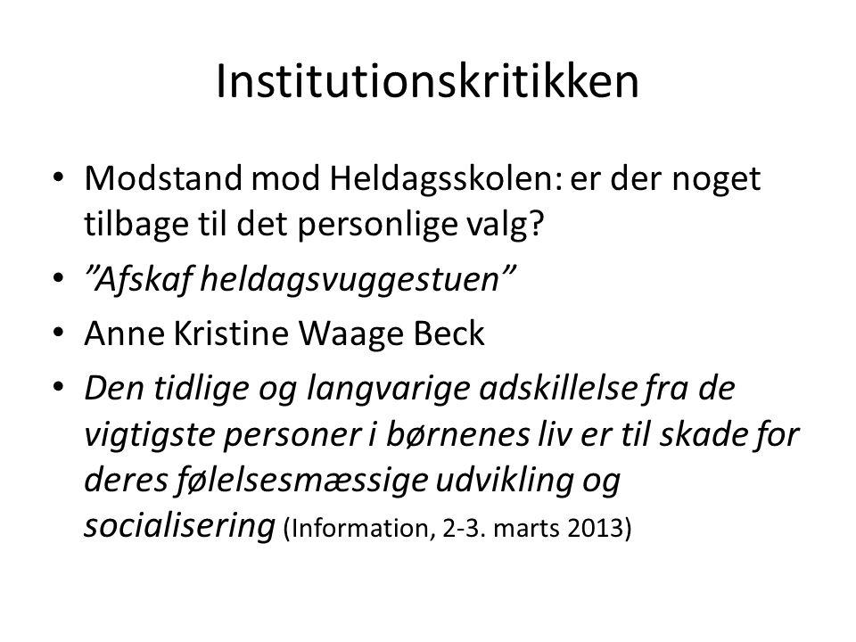 Institutionskritikken