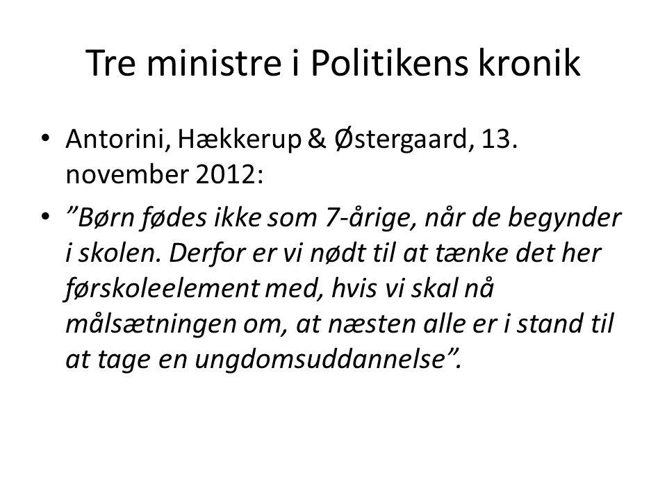 Tre ministre i Politikens kronik