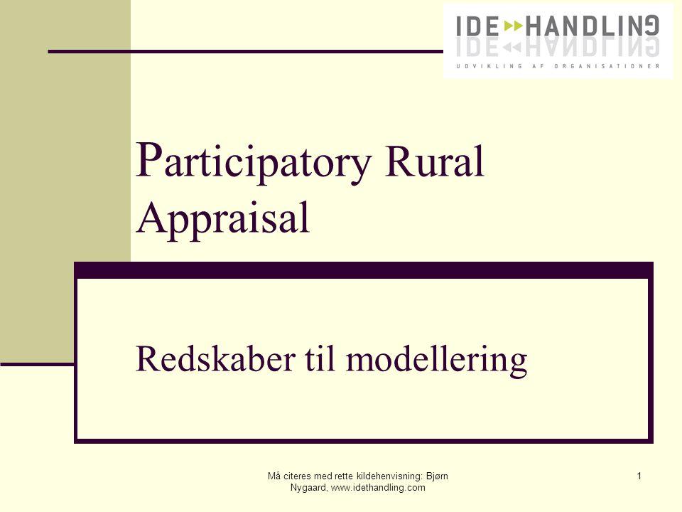 Participatory Rural Appraisal Redskaber til modellering