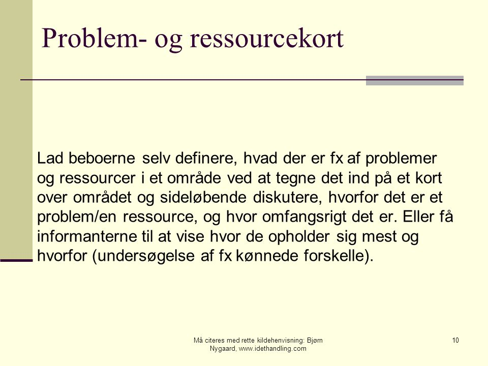 Problem- og ressourcekort