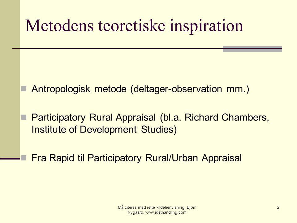 Metodens teoretiske inspiration