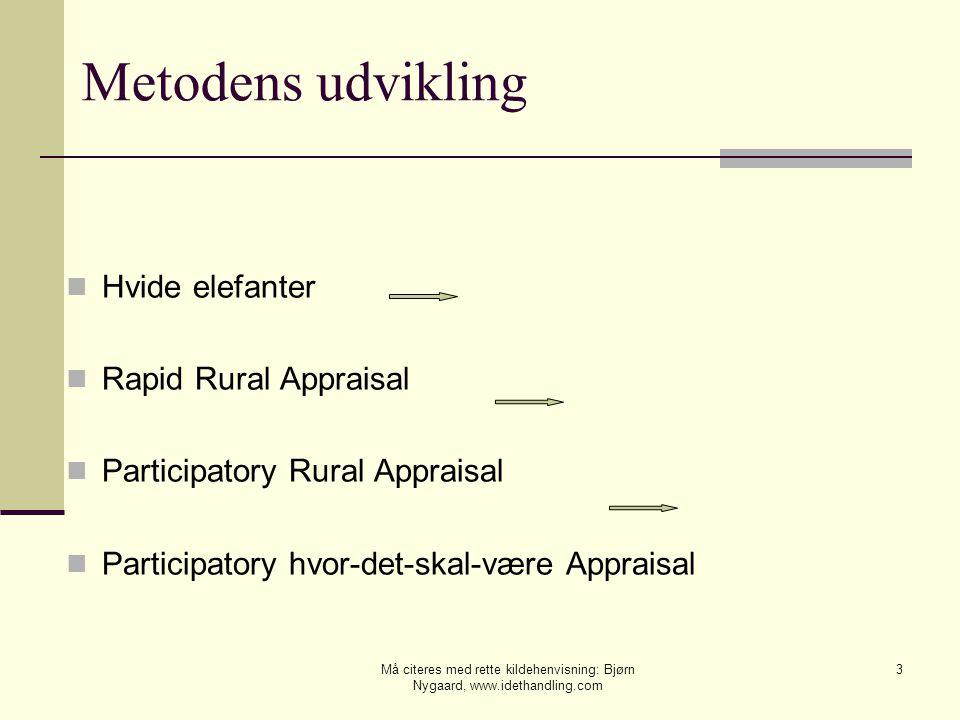 Metodens udvikling Hvide elefanter Rapid Rural Appraisal