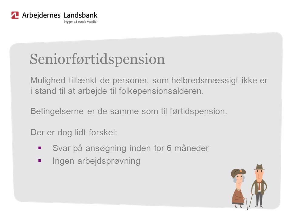 Seniorførtidspension