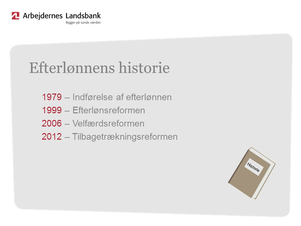 Efterlønnens historie