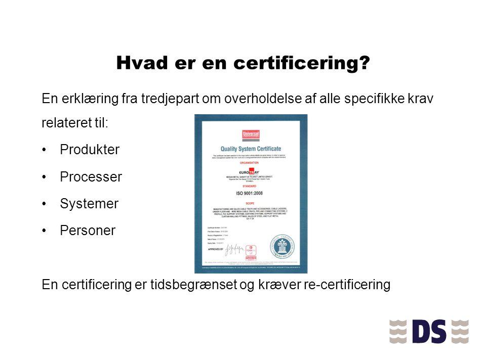 Hvad er en certificering