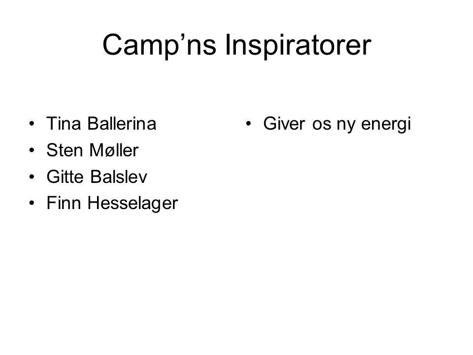 Camp'ns Inspiratorer Tina Ballerina Sten Møller Gitte Balslev