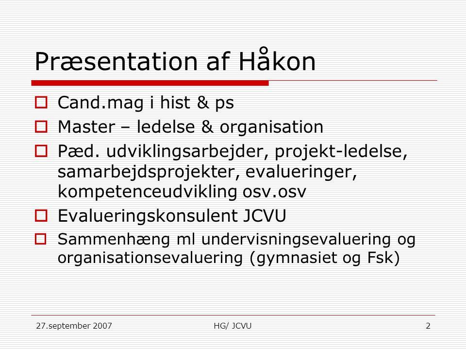 Præsentation af Håkon Cand.mag i hist & ps