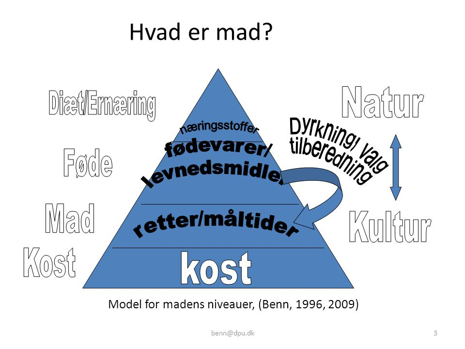 Model for madens niveauer, (Benn, 1996, 2009)