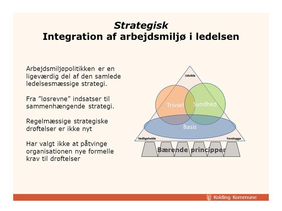 Strategisk Integration af arbejdsmiljø i ledelsen