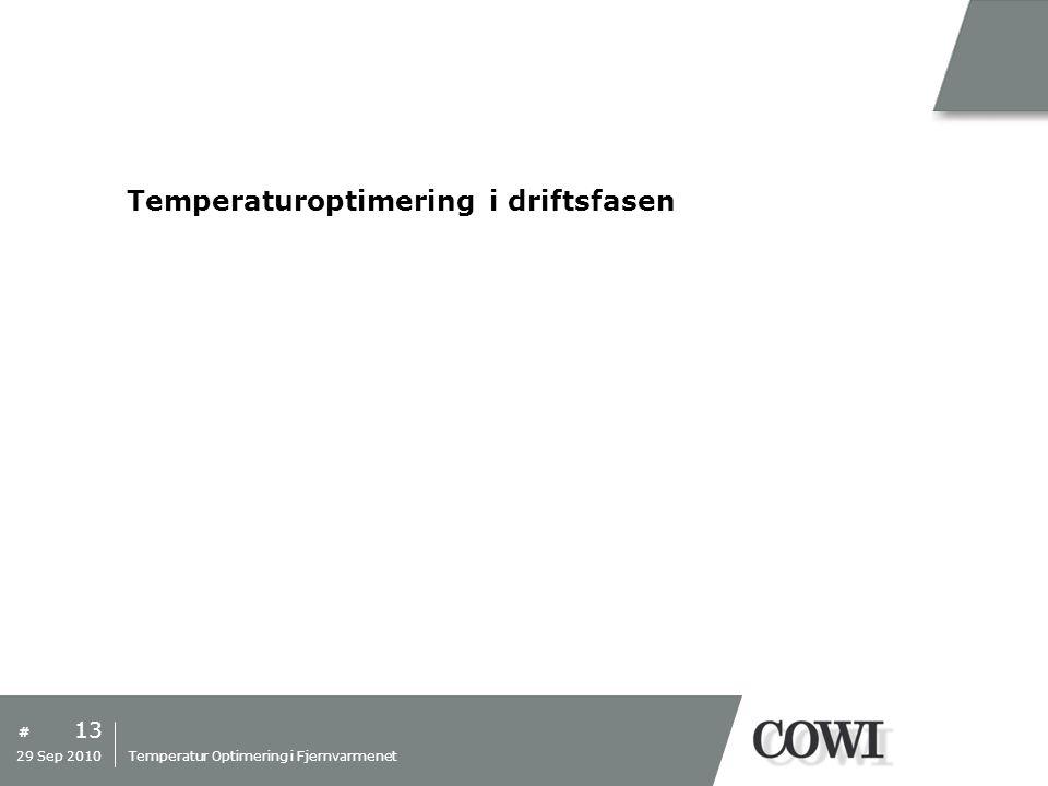 Temperaturoptimering i driftsfasen