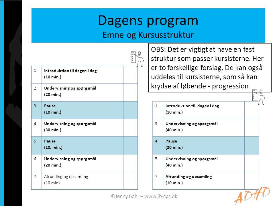 Dagens program Emne og Kursusstruktur
